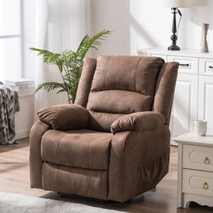 WACO Power Lift Recliner Chair for Elderly, Massage & Vibration Electric Recliner Chair, PU Massage Sofa w Side Pockets and Remote Control