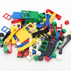 MOC puerta ventana 6 colores ladrillo 102pcs DIY House Building Blocks juguetes de los ladrillos Ciudad Arquitecto Niño educativos Legoeds compatibles 1008