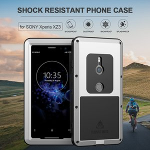 For Sony Xperia XZ3 Phone Case Heavy Duty Protection Armor Metal Hard Screen Film Tempered Glass XZ 3 Full Cover Silicon Casings
