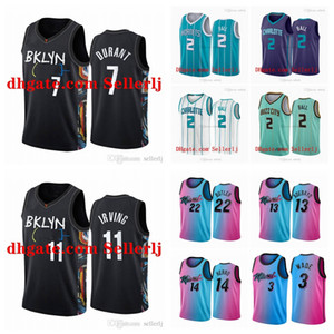 Uomini Youth 2 Ball 2020-21 3 Wade 7 Durant 11 Irving 3 Iverson 21 Embiide 25 Simmons Bianco Menta Green City Basket Ballscally Jersey
