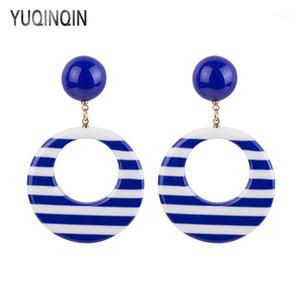 Dangle & Chandelier Classic Resin Drop Earrings For Women Circle Geometric Acrylic Dangling Earings Fashion Elegant Summer Earring Jewelry1