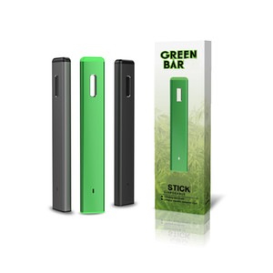 AUTHENTIC GREEN BAR DISPOSABLE VAPE PEN DEVICE EMPTY THICK OIL VAPORIZER STARTER KIT TYPE C CHARGING BOTTOM