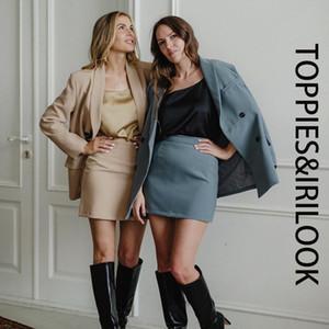Toppies femmes blazer costume deux pièces dames d'automne fixé à double boutonnage veste blazer costume formel 200929