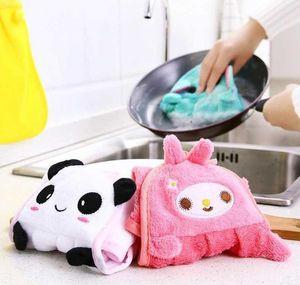 Hand Hanging Kitchen Bathroom Indoor Thick Soft Cloth Wipe Towel Cotton Dish Cloth Clean Towel Accessories sqclLLm bbgargden