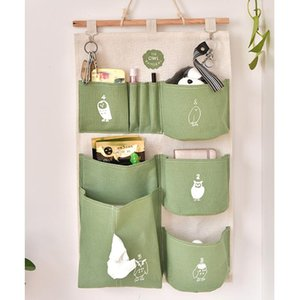 1 Piece Haning Sundries Storage Bag Wall Hanging Storage Bag Printing Closet Children Room Organizer Portable Pocket For Tings