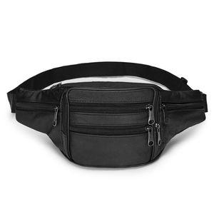 1pc uomini in pelle borse in pelle borse toracie casual impermeabile antifurto in vita pacchetto viaggio camminata per camminata della fascia da viaggio portatile sacchetto dei soldi portatile