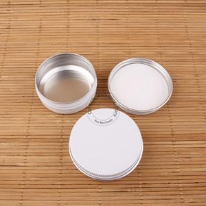 50pcs / Lot 30g de aluminio Crema facial frasco vacío Botella Cosmético White Cap Pequeño portátil de la piel Cuidado de viajes Vial caramelo Pot
