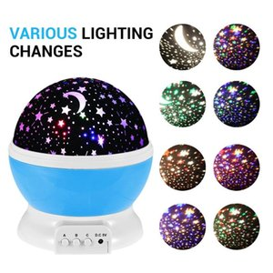 Star Moon Sky Newest Rotation Night Light Starry Romantic Night Projector Night Light For Wedding Party Christmas