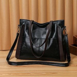 Big Women Bags Soft Leather Handbag Black Female Large Capacity Shopper Shoulder Bag Crossbody Designer High Quality Casual Tote