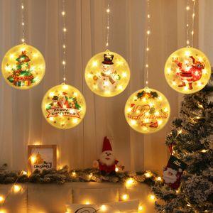 LED Decorative Lantern Star Light For Home Room Layout Ornaments Christmas Tree Santa Claus Night Light Xmas Pendant Free Shipping DDE2265