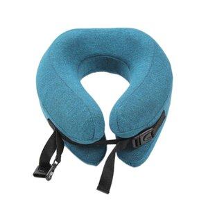 U Shape Memory Travel Neck Pillow Foldable Head Neck Chin Support Cushion