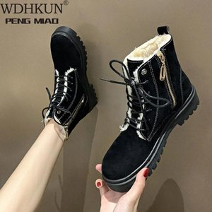 2021 women boots winter ankle boots for women winter shoes female snow botas mujer warm plush shoes woman plus size 43 #2S3E
