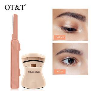 OT&T Portable Eyelash Curler + Eyebrow Trimmer Set Mini False Eyelash Curler Eyebrow Knife Eye Makeup Tools