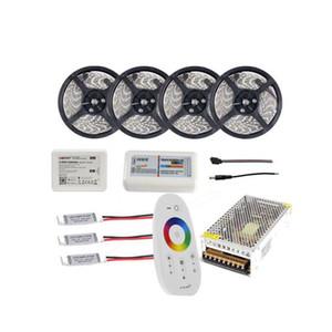 WIFI 20m водонепроницаемый Светодиодные полосы света RGB RGBW RGBWW 5050 SMD Reel Тирас Свет + RF пульт дистанционного управления + блок питания адаптер + усилитель