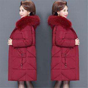2020 new Plus Size 6XL Winter Jacket Female Down Cotton Padded Clothes Women Casual Slim Parka Middle aged Coat Overcoats V1011