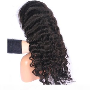 laurinda 13X4 Lace Front Human remy wonderful Hair Deep Wave Wig Brazilian Hair for Pretty Women Hair and send you a free n95 mask