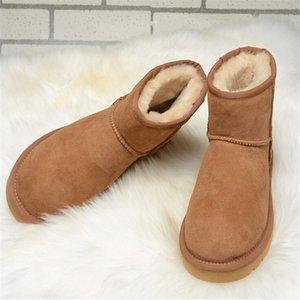 winter boots women shoes Snow ankle Boots australia ladies shoes Women boots Leather fur rain mini buty bot big size black 201020