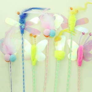 Teaser Feather Toys Kitten Funny Butterfly Dragon Rod Cat Wand Toys Plastic Pet Cat Interactive Stick Pet Supplies9
