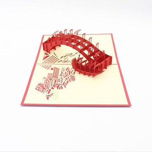 3D Laser Cut Handmade Riverside Scene At Qingming Festival Paper Invitation Greeting Cards PostCard Creative Gift Souvenir