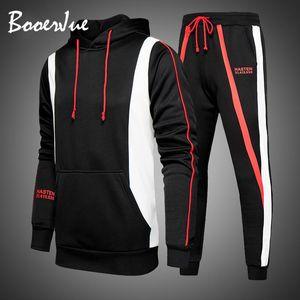 Tracksuit Mens 2PC Hoodies Sportswear Men Hoodies Suits 2020 New Men Casual Hooded Sweatshirts and Pants Sets Fashion Streetwear