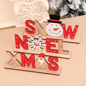 Творческие Новогодние украшения для дома деревянного Письма Санта-Клаус украшения Xmas Главной Dinner Party Table Decor Navidad Нового года