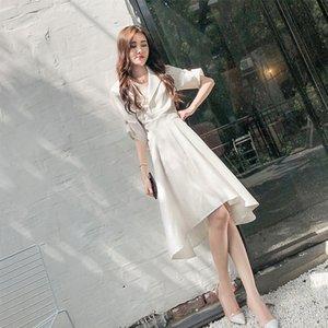 abiti lunghi SUKOL vestito da estate di lunghezza media delle 8Y7R2 6yXaS nuove donne pannello esterno del vestito di progettazione gonna pantaloni a vita bassa irregolare 2019