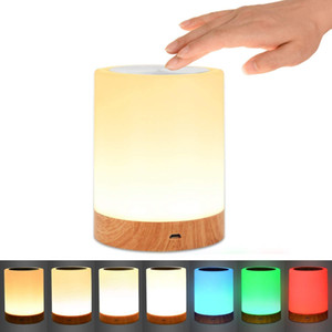 Dimmable 4W RGB & Warm White LED Touch Sensor Besides Table Lamp Atmosphere Light For Bedroom Home Decoration