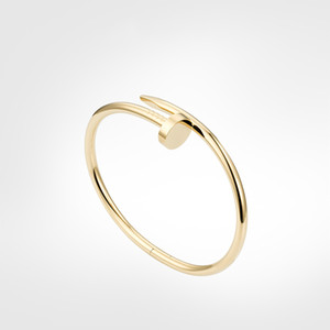 pulsera de uñas pulsera pulsera para hombre pulsera de oro 2021 joyería de lujo mujeres pulseras de acero inoxidable chapado en oro titanio nunca se desvanece