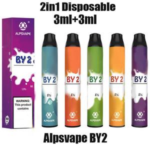 100% Original Alpsvape BY2 Disposable Vape Kit 3ml+3ml 2in1 Vapor Pod Device 900mAh BY 2 Vape Pen Stick System Genuine EZZY Vcan flow