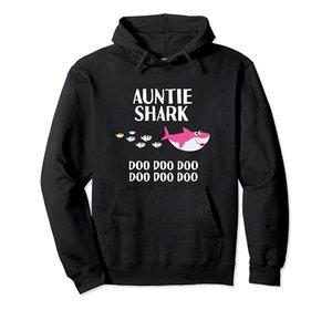 Тетушка Shark Doo Doo Рубашка Тетушка акулы Подарок для Тетя пуловер Толстовка унисекс S-5XL Черный / Серый / Синий / Royal Blue / Dark Heather