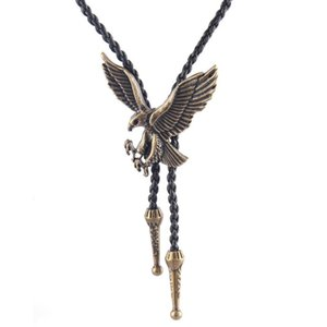 Vintage Men's Bolo Tie Necklaces Trendy Accessories Gifts Personality Alloy Animal Long Necklace Sweater Chain Men Jewelry