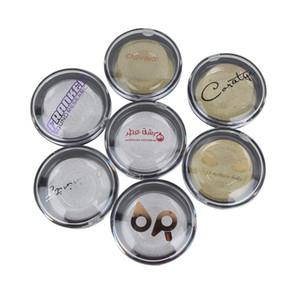 Luxury custom logo metal sticker or self adhesive clear PVC sticker logo printing 3D eyelash show display packaging box boxes