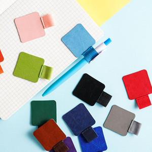 탄성 노트북 용 루프, 저널, 플래너 및 달력 무료 배송 GWF2489와 200PCS 셀프 접착 가죽 펜 홀더