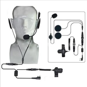 Finger PTT Earpiece Motorcycle Helmet Full Face Earphone walkie talkie headset for Kenwood for Quansheng Icom for Yaesu Baofeng
