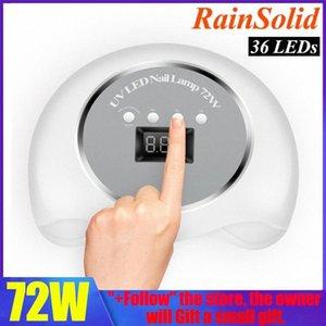 RainSolid 72W / 48W Nagel-Trockner UV-LED-Nagel-Lampe 36 LEDs Lampe für Curing UV-Gel-Polnisches mit Sensor-LCD-Display-Optionen vFso #