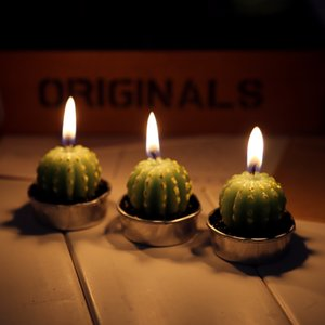 Cactus Shaped Plants Flickering Flameless Tea Light Flicker Tea Candle Light Party Wedding Candels Home Decoration
