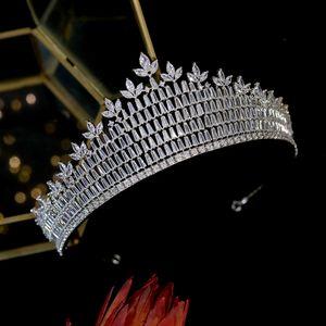 New Fashion Luxury Royal Princess Crown Shiny Crystal Tiaras and Crowns Women's Bridal Wedding Hair Accessories Headband