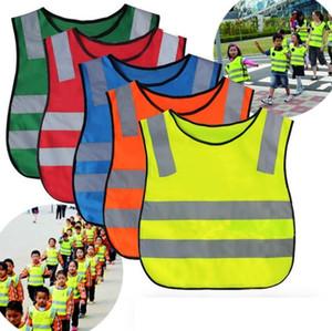 Enfants Vêtements de sécurité étudiants Gilet réfléchissant enfants Proof Gilets de haute visibilité Avertissement Patchwork Gilet de sécurité Outils de construction CCA12587