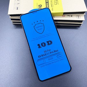 Suitable for iphone12pro Max mobile phone tempered film 10D screen printing iphone11 full screen xr Apple tempered film