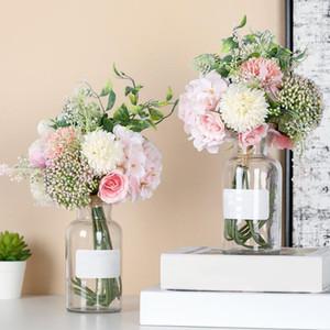 Romantic Hydrangea Bouquet Artificial Silk Flower Plant Bonsai Wedding Decor Simulation Rose For wedding Home Party Decorations