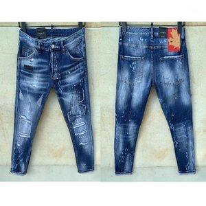 Dsenqi Nouveaux Hommes Jeans déchirés pour le pantalon de jeans Biker Outwear Man du pantalon 91261