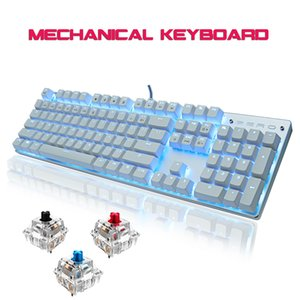 Metoo Gaming mechanical Keyboard Blue Red black Switch Anti-ghosting USB wired LED Keyboard Russian English for Laptop PC gamer LJ200922