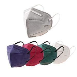 Tek KN95 Maske Ağız Bezi Maskeler KN95 Yüz Tek Yüz Ağız Maskesi Kırmızı Mavi Beyaz Pamuk Maske