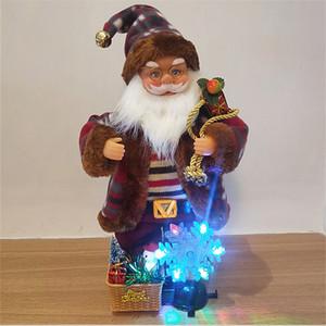 مع صوت LED زخرفة عيد الميلاد أفخم بابا نويل الشكل ضوء لعب Snoflake مصباح 2020 2021 حزب عيد الميلاد الديكور الهدايا في الأوراق المالية F110702