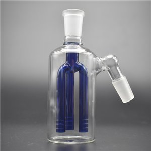 Glass Ash Catcher recycler three arm stree perc 14mm 18mm Female ashcatcher adapter for glass water bong and water pipe bong