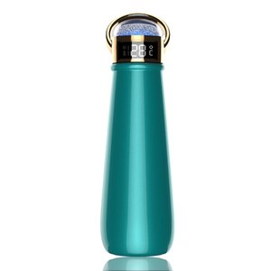 Insulated Water Bottle with Temperature Display Diamond Cap SS304 Double Wall Vacuum Flasks Thermos Cups Business Gift GGD2111