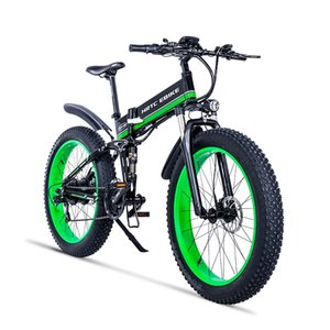 26inch Fat ebike electric snow bicycle 48V lithium battery hidden frame 1000w high speed motor Soft tail Hydraulic