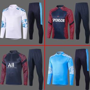 2020 2021 Paris soccer training suit MBAPPE Long sleeved sweatshirt 20 21 maillot de foot Marseille football jogging jacket tracksuit