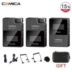 Instock Comica Boomx-D D1 D2 UC1 UC2 2.4G Digital 1-Trigger-2 Microfone Sem Fio com Receptor Transmissor Clip-on Microfone