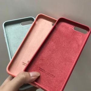 Saco de caso de tampa de silicone líquido saco toda a borda e proteção da câmera para iphone 11 12 pro max xr xs x soft choque à prova de choque original